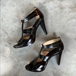 Michael Kors Berkley Patent Leather T-Strap Heels